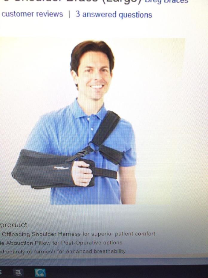Breg SlingShot 3 Shoulder/Arm Brace.  New in package.
