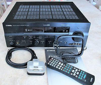 Yamaha RX-V659 Home Theatre receiver & Yamaha YDS-10 iPod dock
