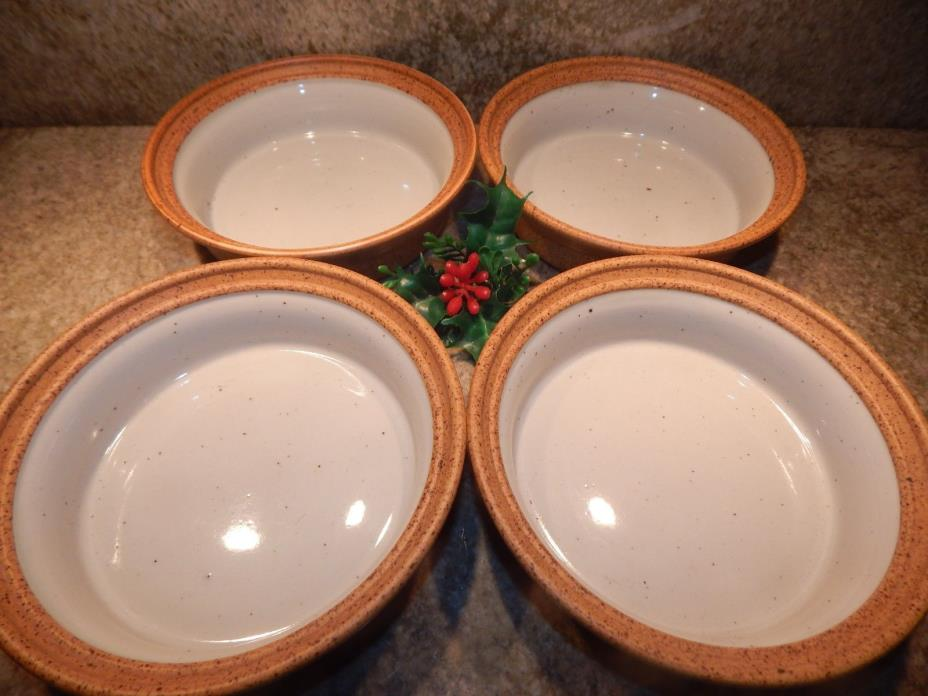 3 Mikasa LE BUFFET Brown Double Texture G1009 Soup-Cereal Bowls