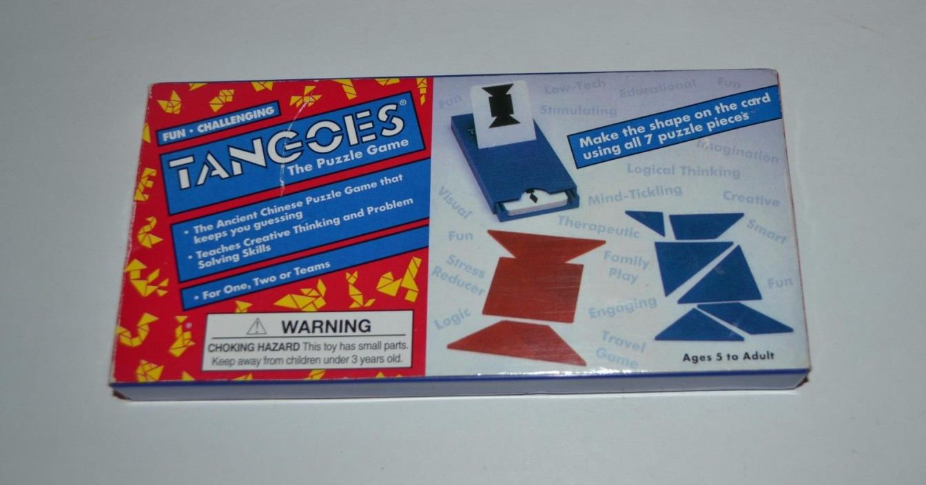 Tangoes Ancient Chinese Puzzle Game ~ 7 Puzzle Pieces Blue Red by Rex Games