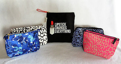 5 pc Lot Assorted Estee Lauder Makeup Cosmetic Travel Bags Brand New!