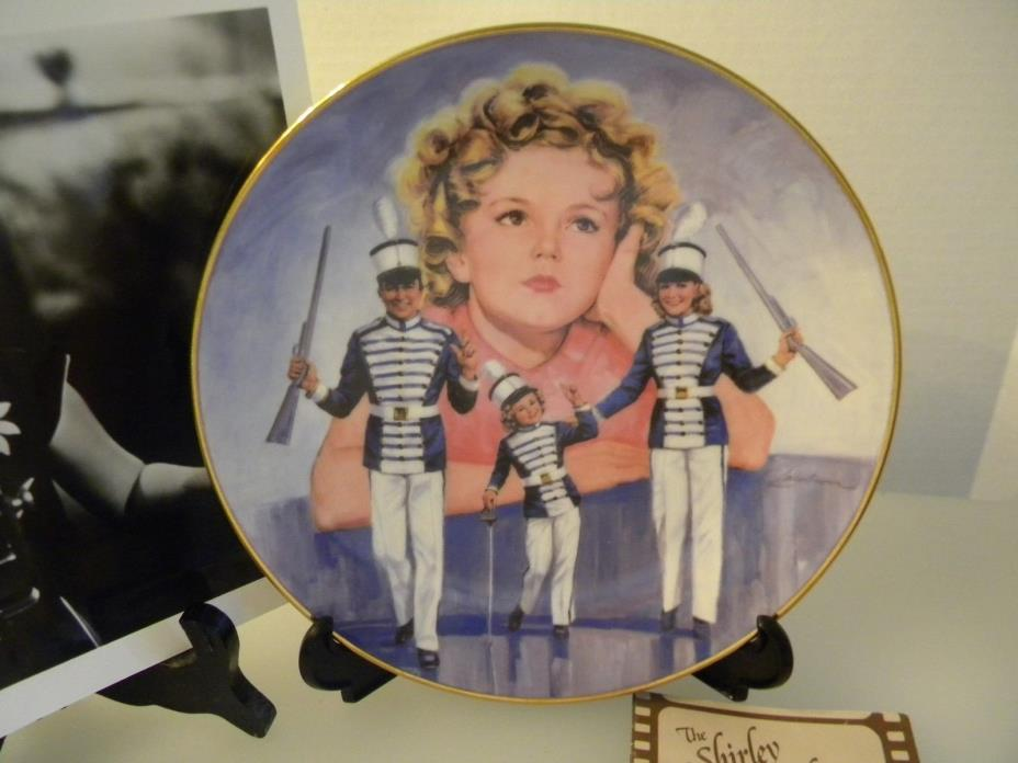 PLATE  SHIRLEY TEMPLE CLASSICS PLATE 1986 '' POOR LITTLE RICH GIRL NEW