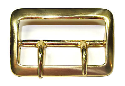 LOT OF 10 SAM BROWNE SOLID BRASS 2.25, 2 1/4 INCH BELT BUCKLE, NEW OLD STOCK