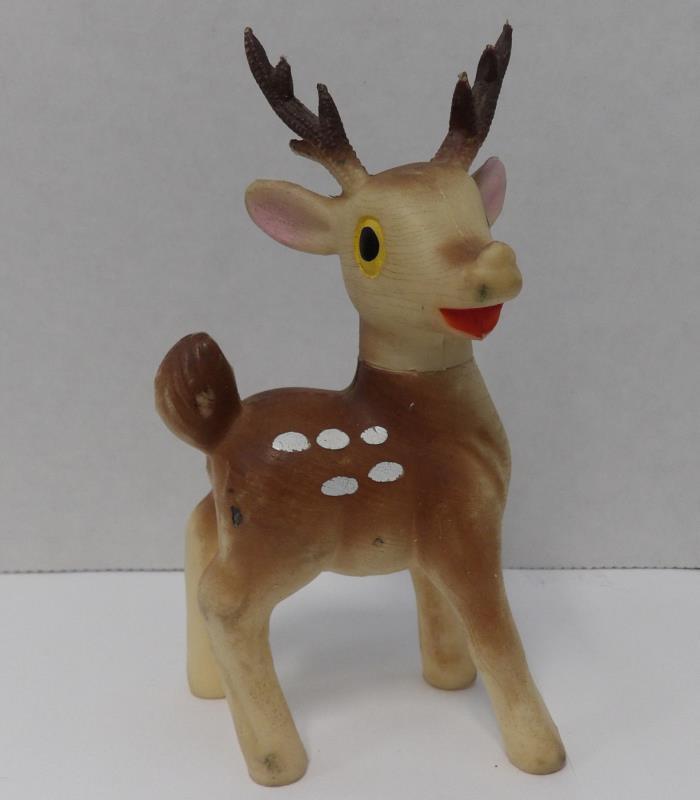 Vintage Japan Rubber/Vinyl Reindeer 5