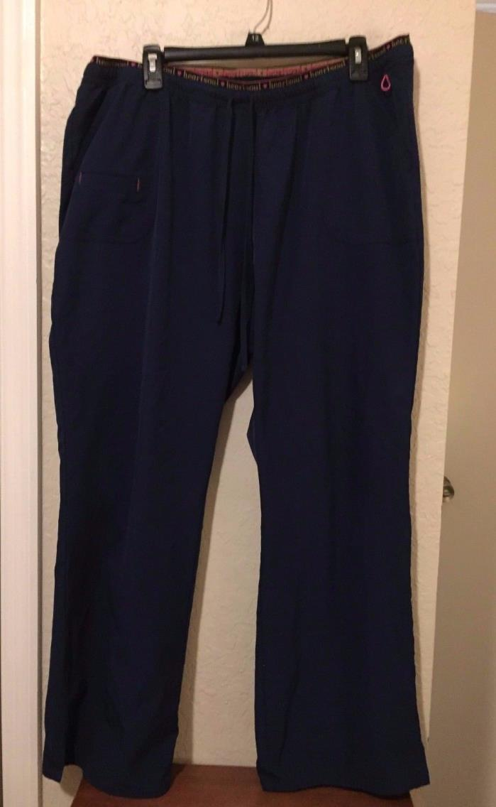 Heartsoul Heart Breaker Low Rise Scrub Pants Women's 2XL NAVY