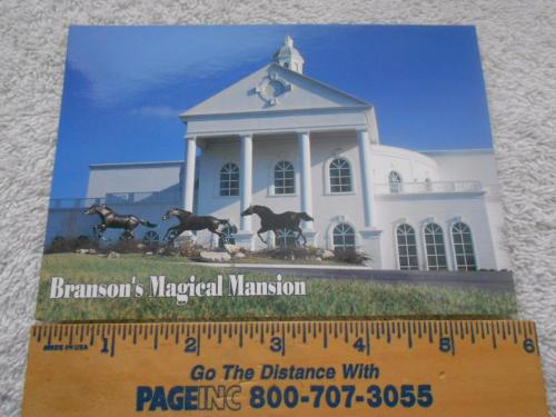 Branson Missouri Magical Mansion Postcard VanBurch & Wellford Show