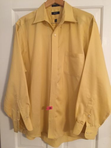 Men's IZOD L/S Yellow Dress Shirt. Excellent Condition.