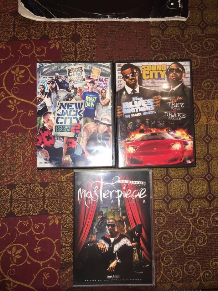 3 Mixtape CD & DVD Sets DJ Cinema Blends Drake & Trey Songz Hip Hop Music Videos