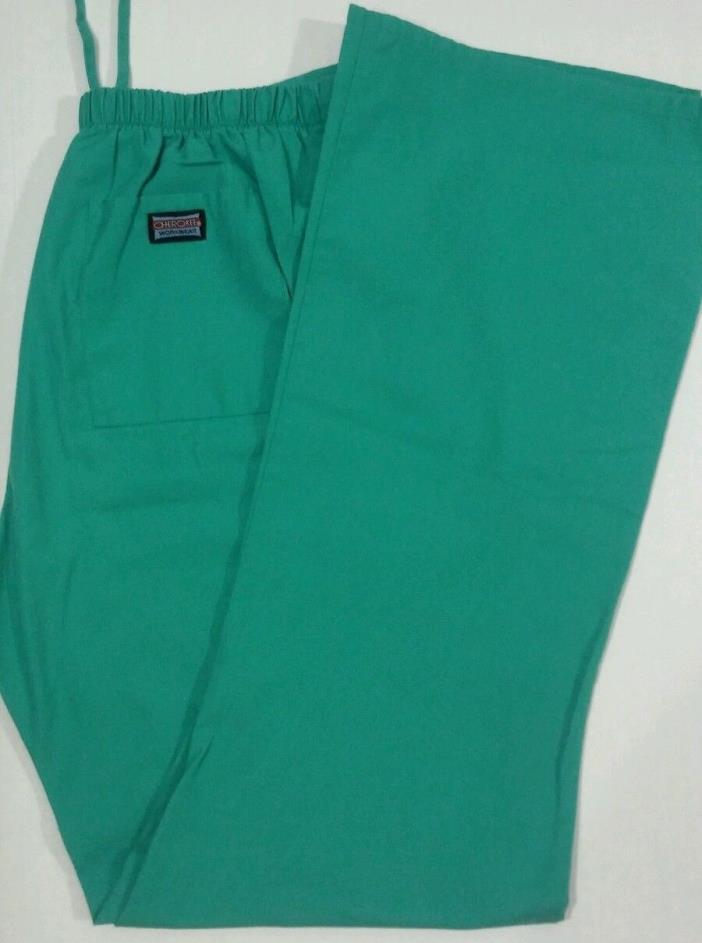 Cherokee Workwear Scrubs Pants Green Size Medium Drawstring EUC