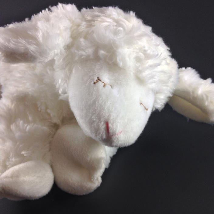 Baby Gund Lamb Winky White Sleepy Plush Stuffed Animal with Rattle 8