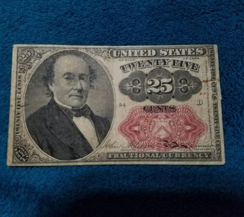 1874 25 Cent Fractional Currency Note