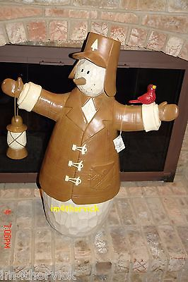 Flurryville Snowman Big ~  3FT. ~ Very Rare Outdoor Ollie With Lantern