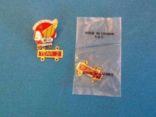 Vintage Gold Wing Road Riders Association GWRRA enamel & metal lapel hat tie pin