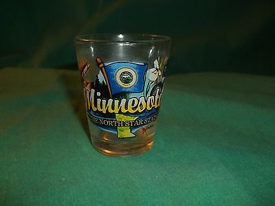 MINNESOTA NORTH STAR STATE ELEMENTS SHOT GLASS SHOTGLASS