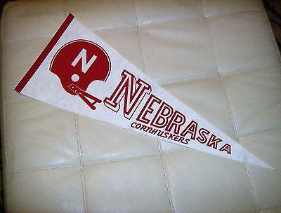 vintage rare university of nebraska cornhuskers full size pennant