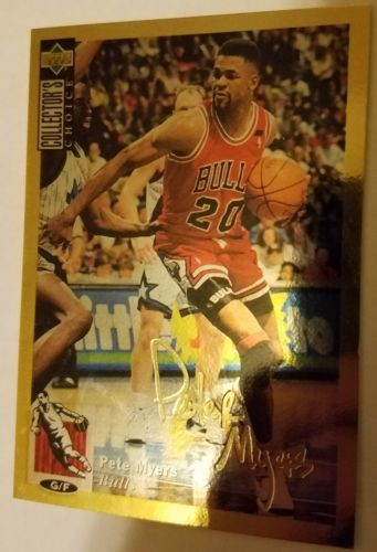 1994-95 Collector's Choice Pete Myers #37 Gold Signature *Bulls