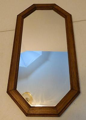 VINTAGE LARGE HOMCO DECORATIVE OCTAGON WOOD FRAME WALL MIRROR