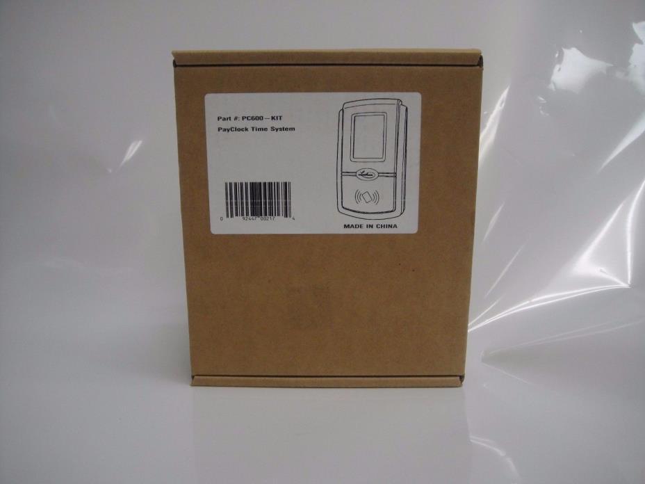 NEW! Lathem PC600 Touchscreen Time Clock 50 Employees Silver/Black-092447002174