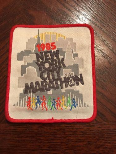 Vintage Original 1985 New York City Marathon Patch / Iron On Sew On