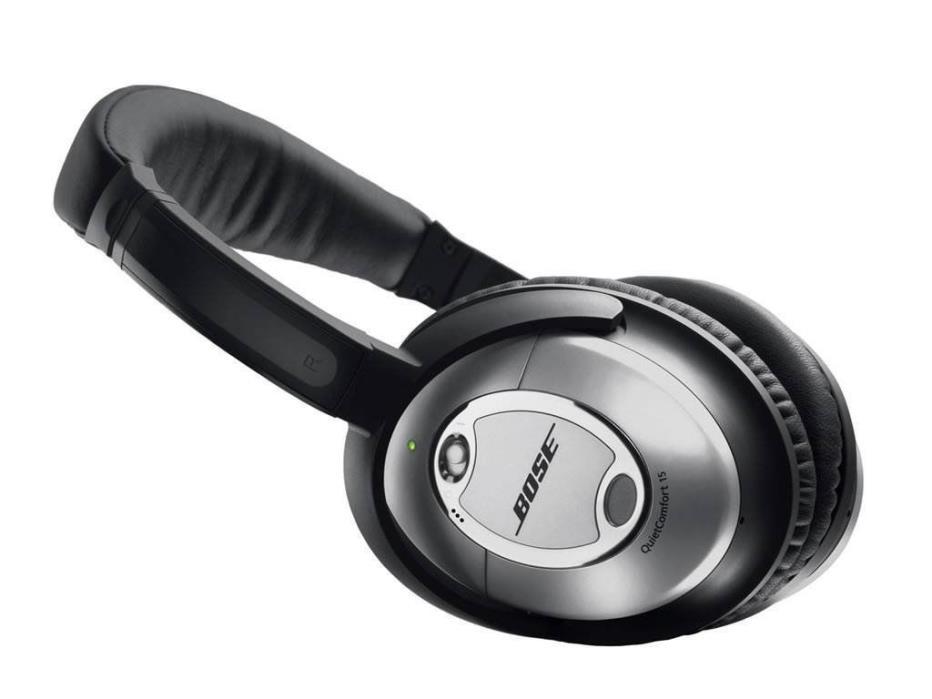 Bose QuietComfort QC15 Acoustic Noise Canceling Headphones - Silver