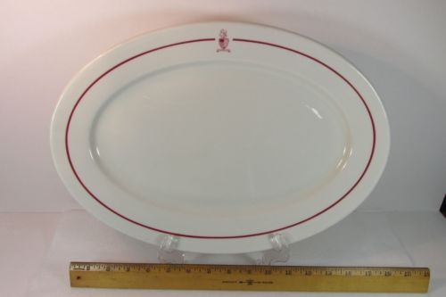 Trump's H.S. New York Military Academy NYMA Large Oval Platter Shenago China
