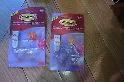 (2) 3M Command Damage-Free Hanging- ceiling hooks Lights party