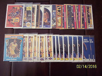 1991 1992 1993 Magic Jonson lot of 30 + Cards UPPER DECK NBA Hoops SKY BOX + LA