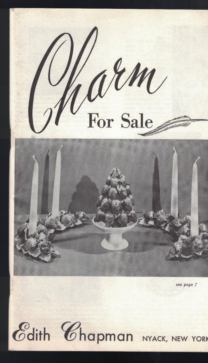 Charm for Sale Edith Chapman Catalog Nyack New York 1950s