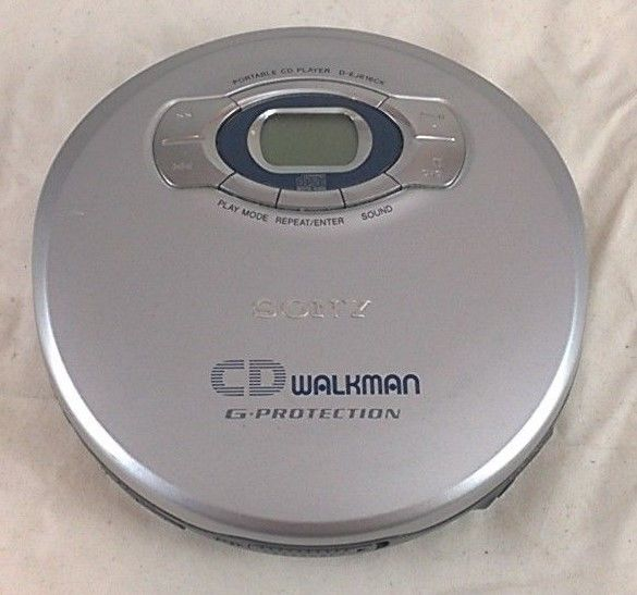 Sony D-EJ616CK Portable CD Player CD Walkman G-Protection - Tested and Working