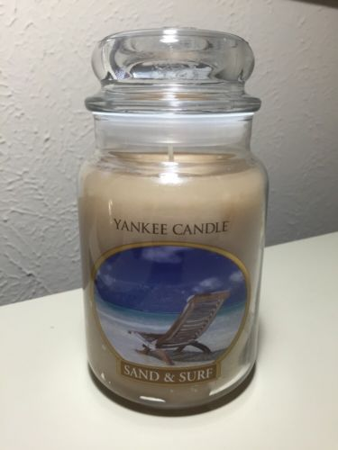 Yankee Candle 22oz Sand And Surf Retired Design Large Jar New