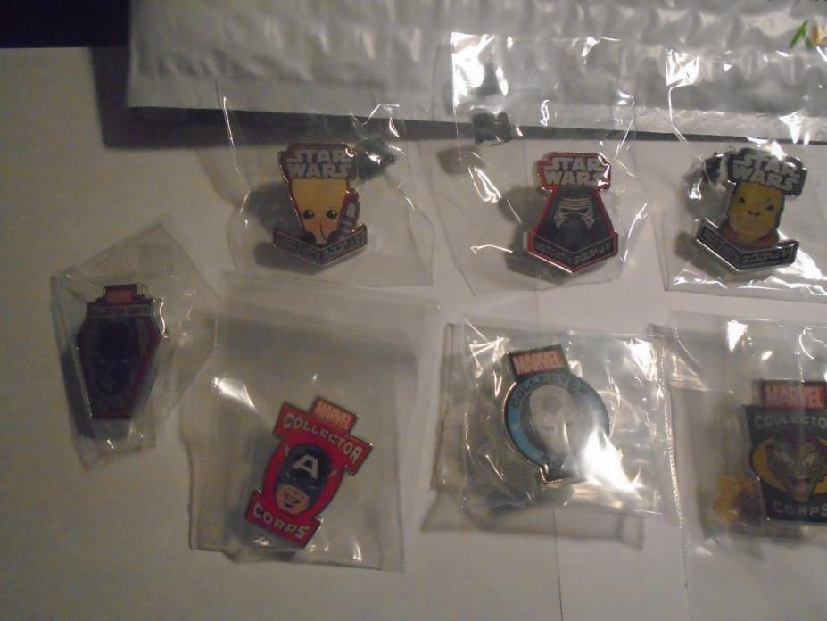 17 Pin Lot Marvel MCC LOC Smugglers Bounty Exclusive Funko Star Wars