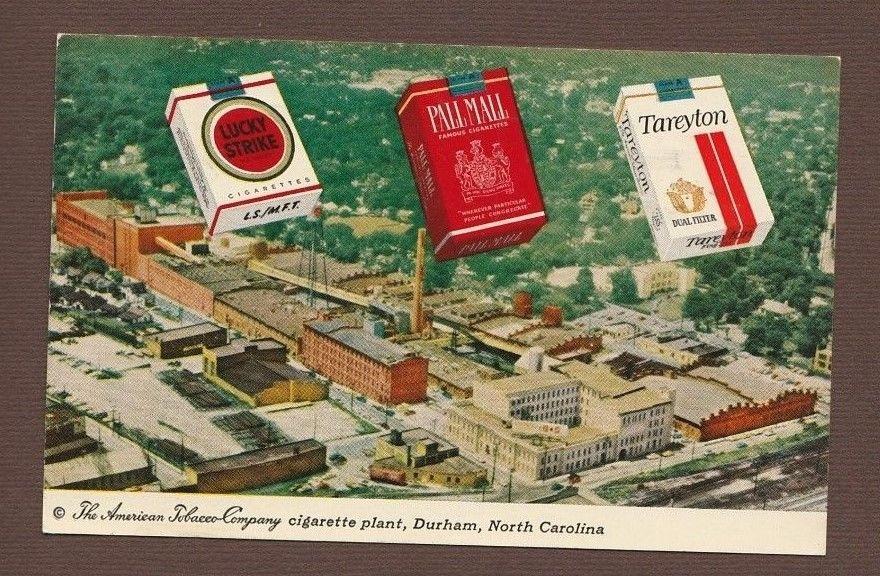 N C Durham American Tobacco Co Cigarette Plant Postcard 1963