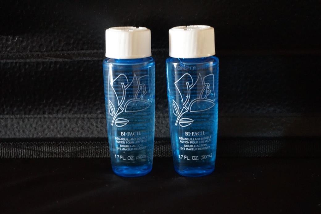 2 Lancome Bi-Facil Double Action Eye Makeup Remover 1.7 oz each 3.4oz Total New