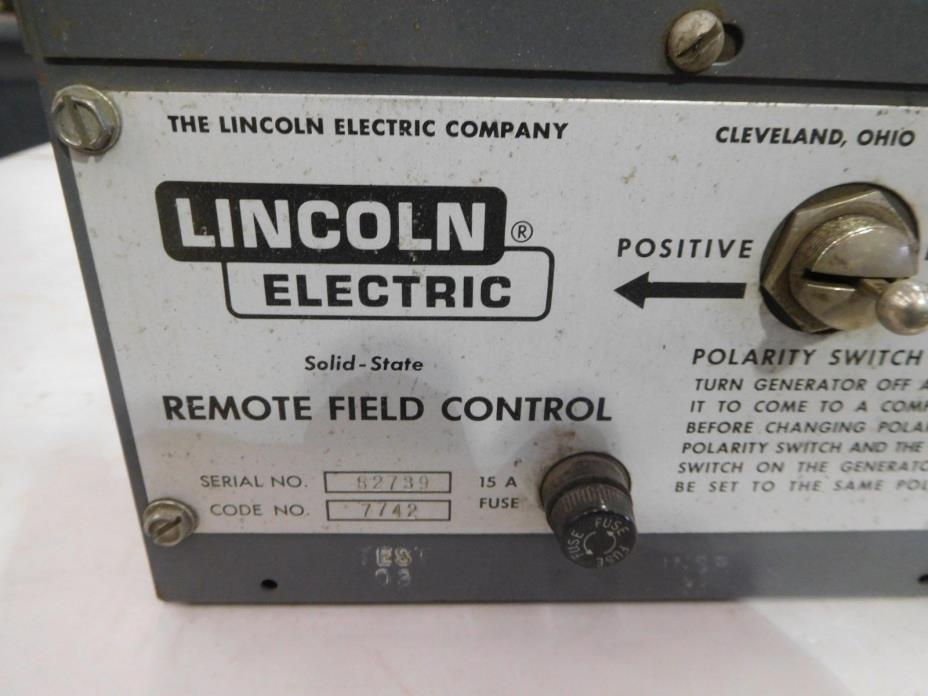 USED, LINCOLN ELECTRIC POLARITY SWITCH  # T-13086-9 REMOTE FIELD CONTROL