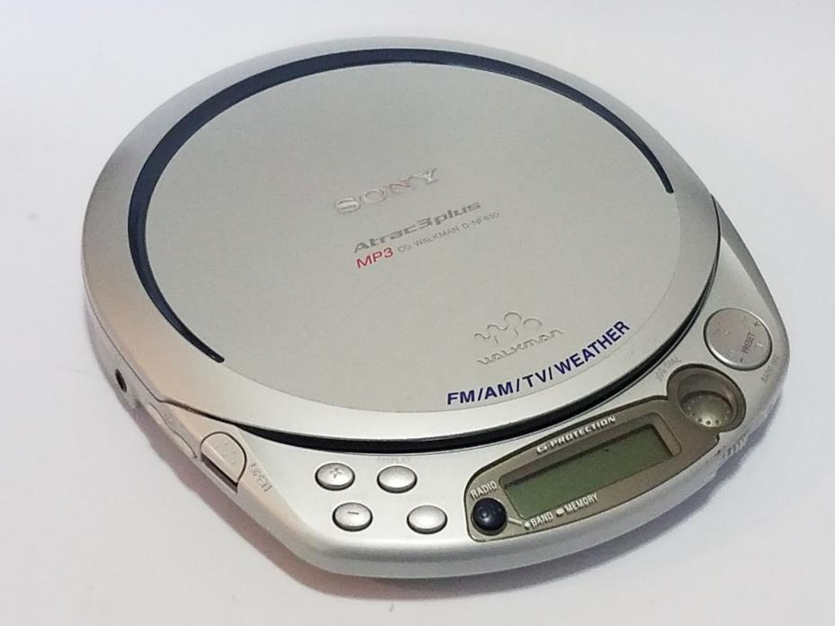 RARE SONY WALKMAN D-NF610 Atrac3 Plus MP3 CD DISCMAN Player Radio TV WEATHER