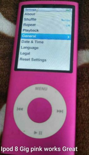 Pink ipod touch 8 gig touch w/Altec Landing music speakers
