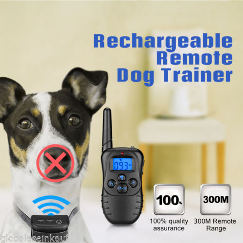 Petrainer Waterproof Remote LCD Electric Dog 100 Levels Training Shock Collar US