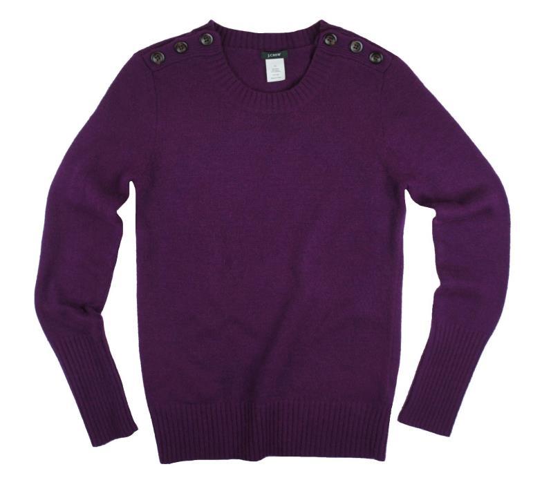 JCREW Size XS Purple Dream Alexie Shoulder Button Crewneck Sweater