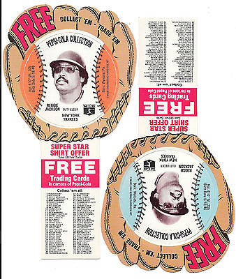 Reggie Jackson- NY Yankees 1977 Pepsi-Cola Baseball Discs- 2 Different Colors