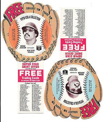 Reggie Jackson- NY Yankees 1977 Pepsi-Cola Baseball Discs- 2 Different Colors