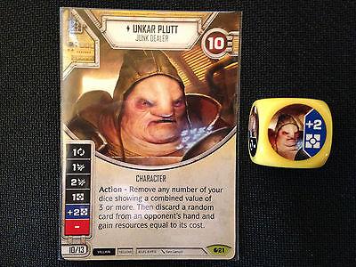 Unkar Plutt (SoR) - Star Wars Destiny Singles - Near Mint Card and Die