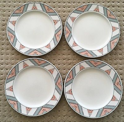 Lot 4 Mikasa Santa Fe CAC24 Southwest Intaglio Dinner Plates 11