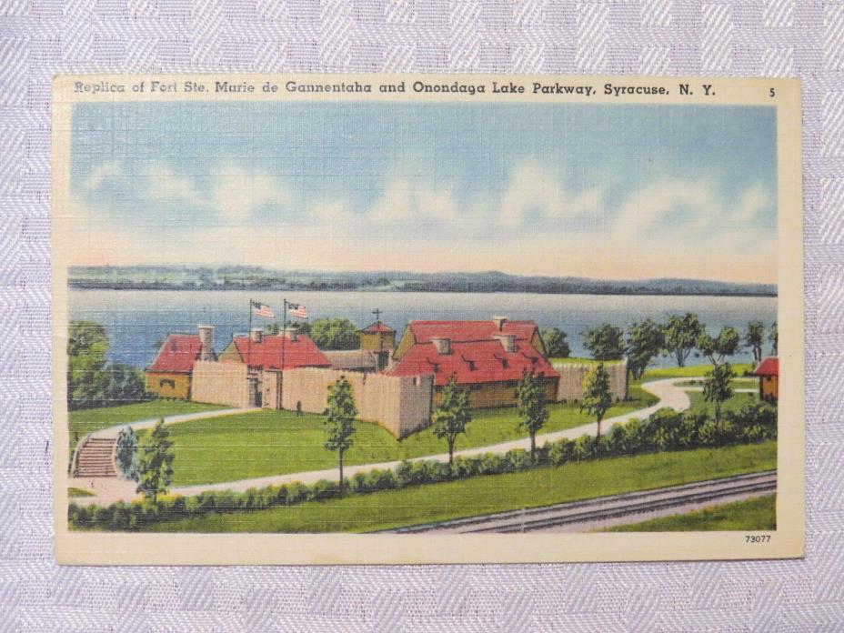 ST74 - Syracuse NY New York - Fort Ste Marie de Gannentaha Onondaga Lake 1943