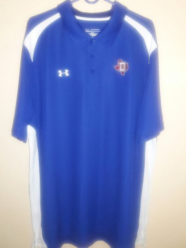 DALLAS TEXAS COWBOYS UNDER ARMOUR POLO SHIRT MENS 2XL.