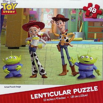 NEW ~ DISNEW ~ TOY STORY ~ 48 PIECE PUZZLE ~ 3D MOTION ~ WOODY, JESSIE & ALIENS