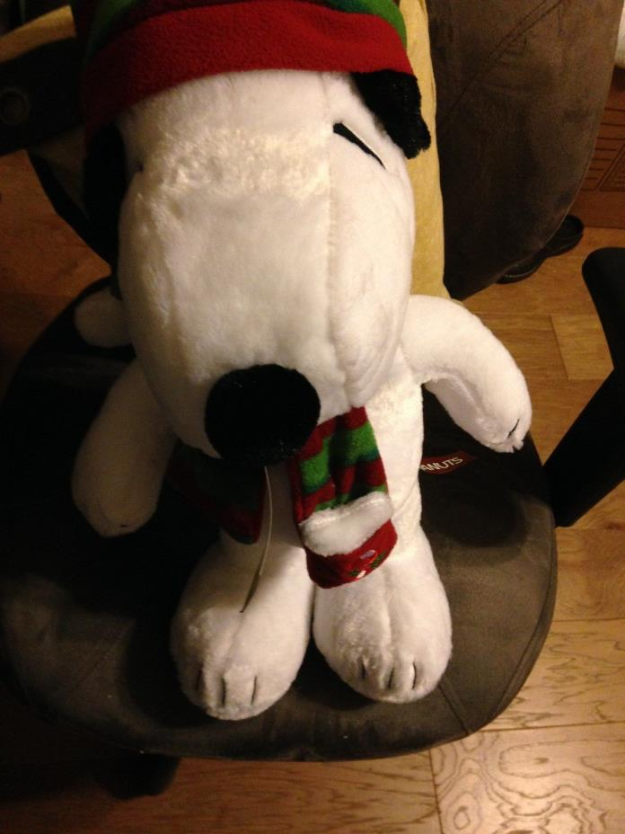 NEW GREAT PEANUTS SNOOPY CHRISTMAS DOOR GREETER WITH FREE SHIPPING