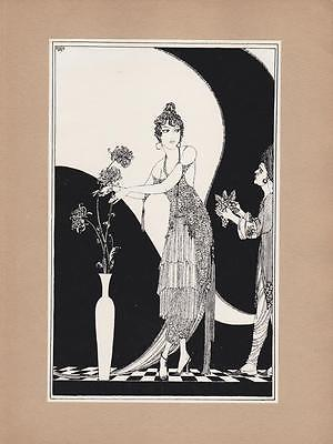 Ronald Balfour, 1920 Art Nouveau print, Rubaiyat of Omar Khayyam, quatrain 65