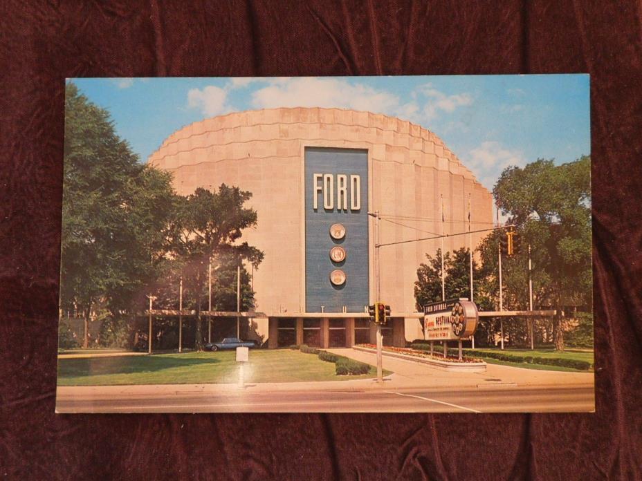 Vintage Postcard: Ford Rotunda, Dearborn MI, Unposted