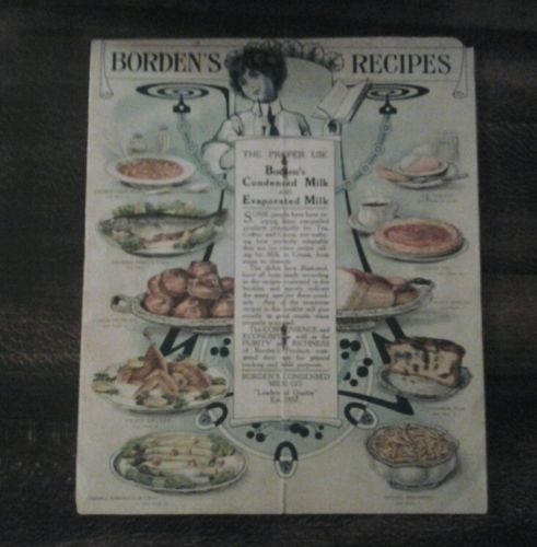BORDEN'S CONDENSED MILK RECIPES  1920s COOK BOOK
