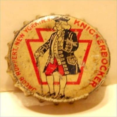 Jacob Ruppert Knickerbocker Beer Cork Bottle Cap New York